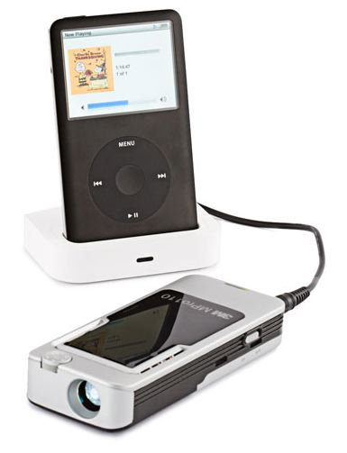 iPod Docked to MiniProjector